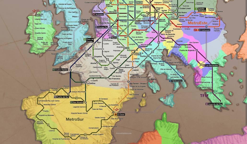Mapa Del Metro Madrid.El Plano Del Metro De Madrid Encaja A La Perfeccion Con El